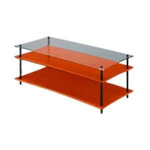 QAVMB/CHGL クアドラスパイア チェリー棚板+透明ガラス棚板・ブラックポール Quadraspire