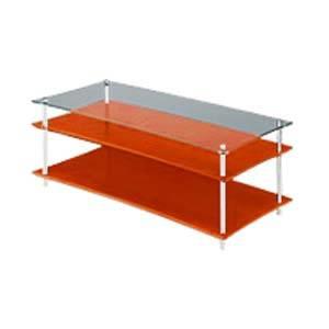 QAVMS/CHGL クアドラスパイア チェリー棚板+透明ガラス棚板・シルバーポール Quadraspire