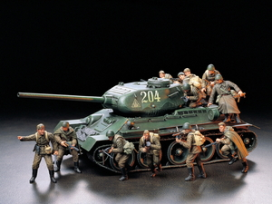 1/35 ミリタリーミニチュアシリーズ ソビエト歩兵 進撃セット 【35207】  タミヤ