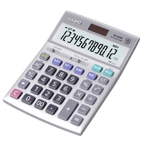 DS-20WK カシオ 卓上電卓 12桁 本格実務電卓