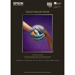 KA225VFA エプソン Velvet Fine Art Paper A2 25枚