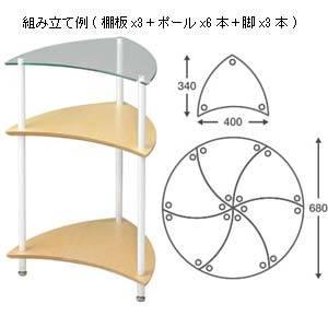 TRS/GL クアドラスパイア TRSシリーズ棚板 ガラス(1枚) Quadraspire