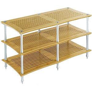 Q4DVTS/NC クアドラスパイア ナチュラルチェリー棚板・シルバーポール (2連タイプ) Quadraspire
