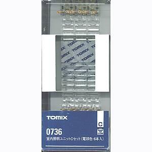 鉄道模型 買い物 価格 トミックス Nゲージ 0736 6本入 電球色 室内照明ユニットCセット