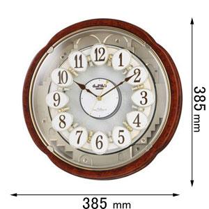 4MN480RH23 リズム時計 電波からくり時計 スモールワールドコンベルS [スモルワルドコンベルS]【返品種別A】