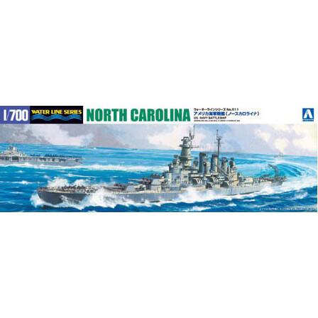 再生産 1 700 ファッション通販 ウォーターラインシリーズ No.611 アメリカ海軍 アオシマ ノースカロライナ 国産品 プラモデル 戦艦 46005