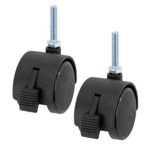 IHT40CSL2P ルミナス ナイロンキャスターストッパー付 2個入 Luminous ライトシリーズ 新商品 格安 価格でご提供いたします ポール径19mm専用