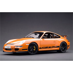 1/12 ポルシェ 911 997 GT3 RS オレンジ/ブラックストライプ【12117】 オートアート