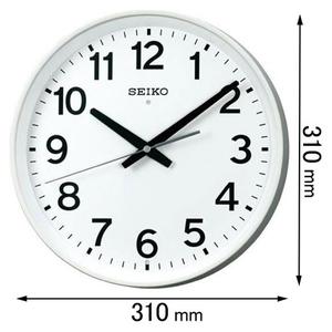 KX-317-W セイコークロック 電波掛け時計 [KX317W]【返品種別A】