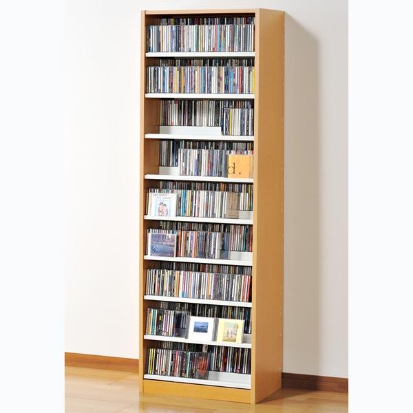 TCS590N オークス タンデムCDストッカー ナチュラル 収納枚数:CD最大963枚、DVD最大432枚