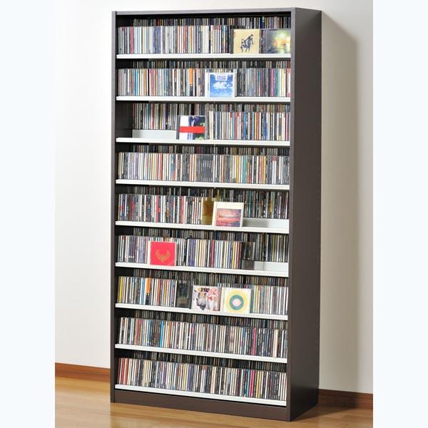 TCS890D オークス タンデムCDストッカー ウォルナットダーク 収納枚数:CD最大1503枚、DVD最大672枚