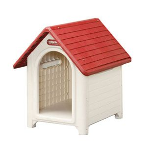 ボブハウスLレツド/オフホワイト アイリスオーヤマ ボブハウス L(レッド/オフホワイト) IRIS 犬小屋
