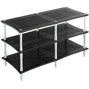 Q4DVTS/BK クアドラスパイア ブラック棚板・シルバーポール (2連タイプ) Quadraspire
