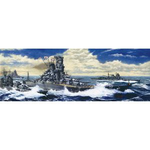 1/500 艦船モデル 日本海軍戦艦 大和 レイテ海戦時 エッチングパーツ付 フジミ