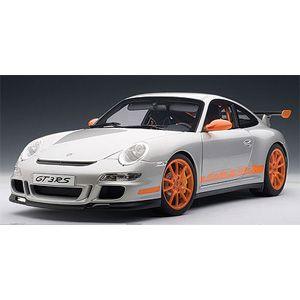 1/12 ポルシェ 911 (997) GT3 RS シルバー/オレンジストライプ【12119】 オートアート