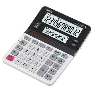 新作販売 MV-220W-N カシオ 大放出セール ツイン液晶電卓 ミニジャストタイプ サブ +12桁 メイン 12桁