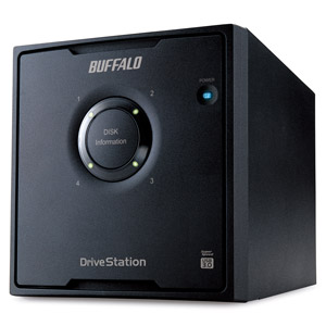 Drive Station HD-QL4TU3/R5J バッファロー RAID5対応 USB3.0接続 外付けハードディスク 4.0TB(1.0TB×4)