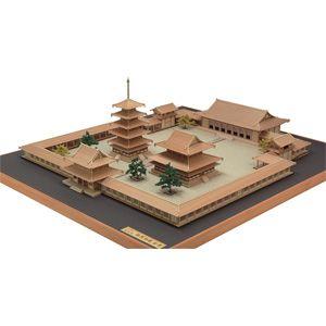 1/150 木製模型 法隆寺 西院伽藍 全景 ウッディジョー