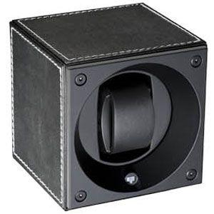 SK01-CV001 SWISS KubiK シングル ウォッチワインダー カーフレザー ブラック/ホワイト [SK01CV001]【返品種別B】