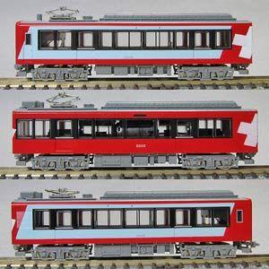 NT134 グレッシャー・エクスプレス塗装 3両セット 箱根登山鉄道2000形 [鉄道模型]モデモ (N)