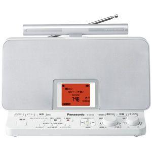 【各種クーポンあり。数上限ございます】RF-DR100-W パナソニック ラジオ録音機能搭載 AM/FMラジオレコーダー(グレイスホワイト)4GBメモリ内蔵+外部SD/マイクロSDカードスロット搭載 Panasonic