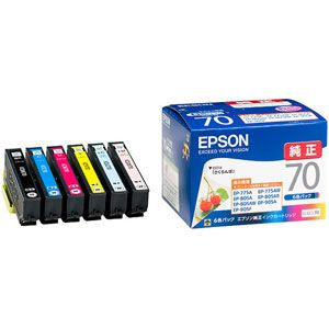 IC6CL70 エプソン 純正インクカートリッジ EPSON さくらんぼ 捧呈 定番の人気シリーズPOINT(ポイント)入荷 6色セット