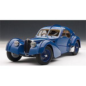 1/18 ブガッティ タイプ57SC アトランティック 1938(ブルー)【70942】 オートアート