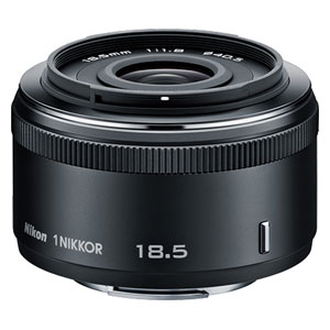 1N18.5F1.8-BK ニコン 1 NIKKOR 18.5mm f/1.8 ブラック ※ニコン1マウント用レンズ