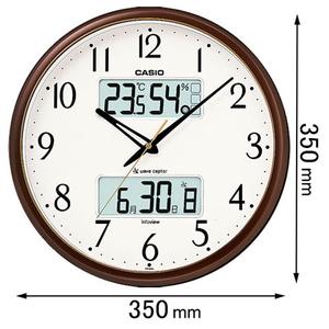 ITM-650J-5JF カシオ 温湿度計付 ショップ 電波掛け時計 返品種別A 茶色 ITM650J5JF 入手困難