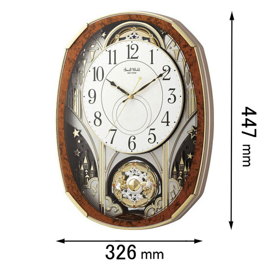 4MN513RH23 リズム時計 電波からくり時計 スモールワールドノエル [スモルワルドノエルM23]【返品種別A】