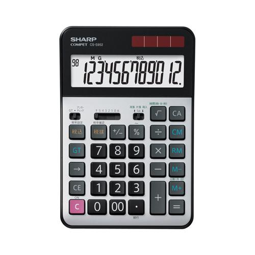 CS-S952X シャープ 卓上電卓 12桁(プロフェッショナル実務電卓)