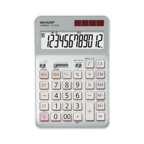 CS-S952CX シャープ 卓上電卓 12桁(プロフェッショナル実務電卓)