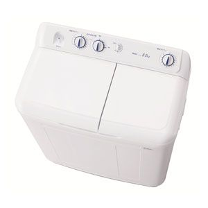 (標準設置料込)JW-W80E-W ハイアール 8.0kg 2槽式洗濯機 ホワイト Haier