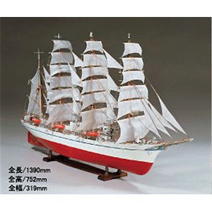 1/80木制帆船模型日本丸号WOODYJOE[UD 1/80 nippommaru]