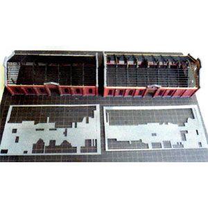 [鉄道模型]フローベルデ (N) 00344 重要文化財シリーズ 丸山変電所廃墟屋根入(ペーパー製未塗装組立キット)