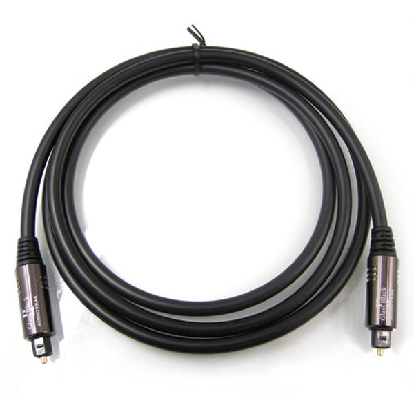 GLASS BLACK 2 PLUS 1M オーディオトラック 光デジタルケーブル(1.0m・1本)【角型⇔角型】 AUDIOTRAK