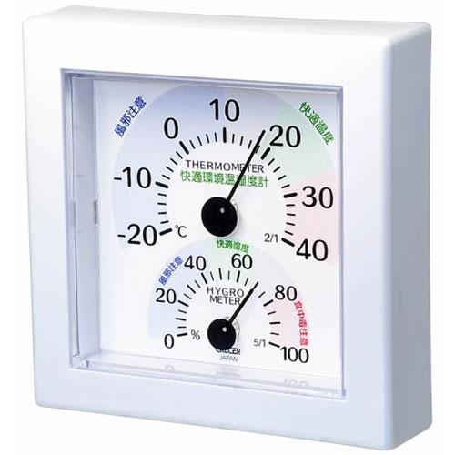TR-100W クレセル 快適環境温湿度計(ホワイト) CRECER [TR100W077735]