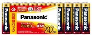 LR6XJ/20SW パナソニック アルカリ乾電池単3形 20本パック Panasonic [LR6XJ20SW]