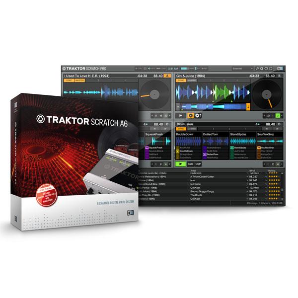 TRAKTORSCRATCHA6 ネイティブインストゥルメンツ デジタル・ヴァイナル・システム Native Instruments TRAKTOR SCRATCH A6 [TRAKTORSCRATCHA6]【返品種別A】