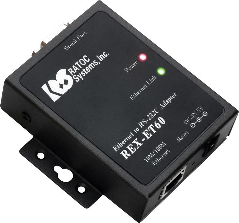 REX-ET60 ラトックシステム Ethernet to RS-232Cコンバーター