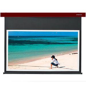 【各種クーポンあり。数上限ございます】SES-80HDWA/R キクチ 電動スクリーン・Stylist-ES80インチ(16:9)ホワイトマットアドバンスイタリアンレッド KIKUCHI