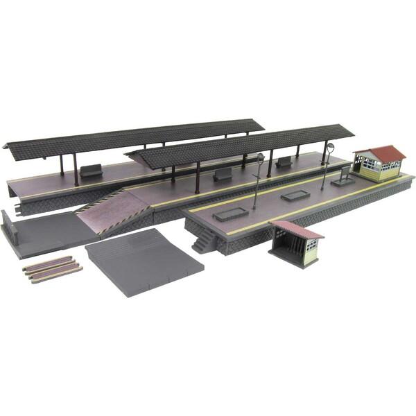 鉄道模型 グリーンマックス 再生産 Nゲージ 2565 ブラウン ホーム部200mm 直営ストア 出色 スロープなど ローカル型島式ホームセット