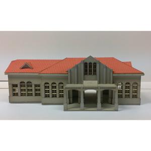 [鉄道模型]フローベルデ (N) 357 近代化遺産建築シリーズ 旧国鉄 岩国駅 (ペーパー製塗装済組立キット)
