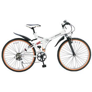 M-670 マイパラス 折りたたみ自転車 ATB 26インチ 6段変速 Wサス(ホワイト) MYPALLAS [M670ホワイト]【返品種別B】