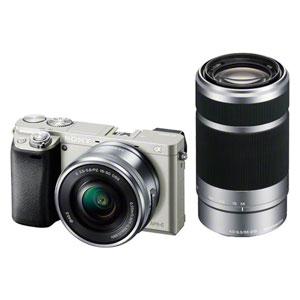 ILCE-6000Y-S ソニー ミラーレス一眼カメラ「α6000」ダブルズームレンズキット(シルバー) SONY