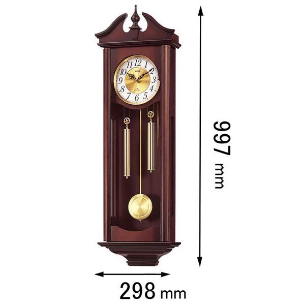 4MJ742RH06 リズム時計 掛け時計 振り子時計 [キヤロラインR]【返品種別A】
