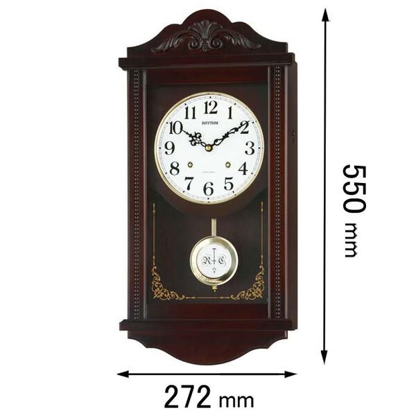 4MJA01RH06 リズム時計 掛け時計 振り子時計 [アタツシユマンR]【返品種別A】