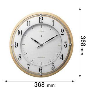 4MY837-006 シチズン ソーラー電波掛け時計 サイレントソ-ラ-M837 [4MY837006]【返品種別A】