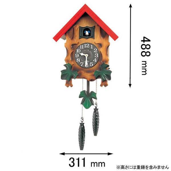 4MJ775RH06 リズム時計 掛け時計 鳩時計 [カツコメルビルR]【返品種別A】