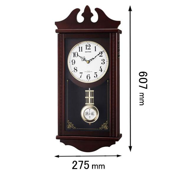 ペデルセンR-06 リズム時計 掛け時計 4MNA03RH06 [ペデルセンR06]【返品種別A】